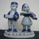 Collectible Vintage Figurine Boy And Girl Delft Blue Style