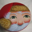 Hand Painted Santa Face Lid on White Ceramic Bowl New