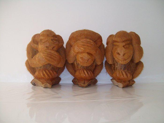 Coconut Monkey Figurines