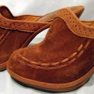 VintageQualicraft Brazil Wood & Suede platform Clogs