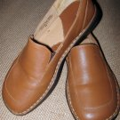 Women,s BORN Slide Oxfords Brown Leather 8 S