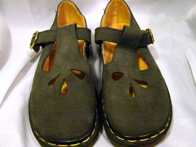 Women Dr Martens Oxfords Mary Jane Black Leather 4 US