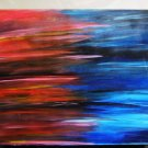 Original Abstract muti-media on canvas Unique painting