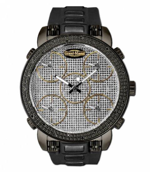Grand Master 5 time zone 22 diamonds watch
