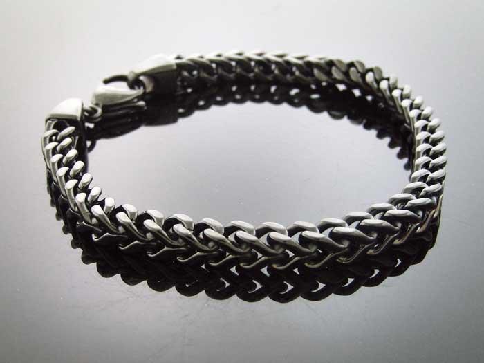 """Men's Jumbo 8mm Franko Steelness steel 10"""" Bracelet"""