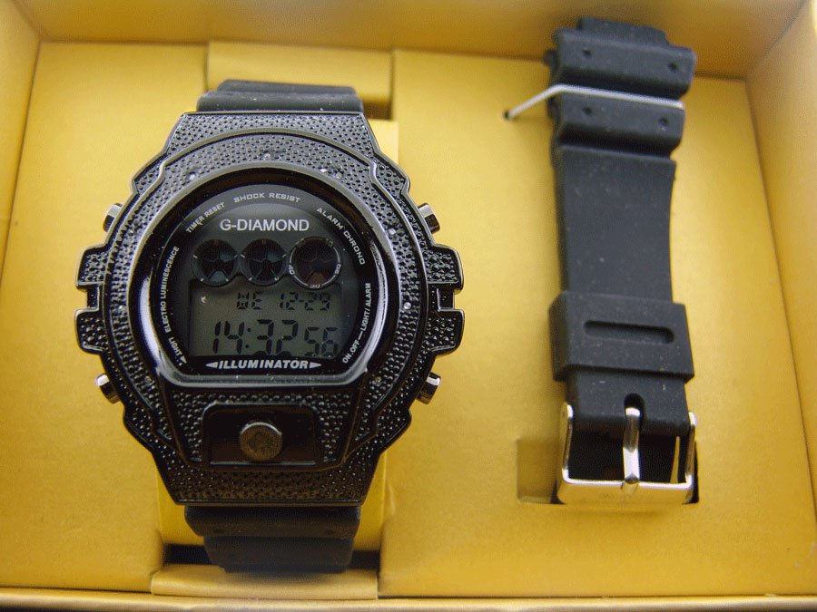 Men's G-Diamond II By Icetime 10 Diamond Sports watch with extra band