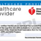 BLS for Healthcare Providers Professional- 1 on 1 instruction