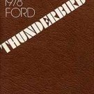 1978 Thunderbird Owner's Manual - AM0053