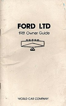 1981 Ford LTD Owner's Manual - AM0052