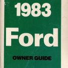 1983 Ford Owner's Manual - AM0050