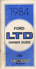 1984 Ford LTD Owner's Manual - AM0047