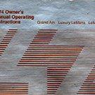 1974 Pontiac Grand Am-Luxury LeMans-Sport Coupe-LeMans Owner's Manual - AM0035