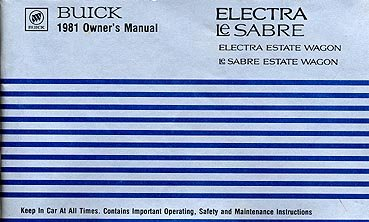 1981 Buick Electra-LeSabre Estate Wagon Owner's Manual - AM0028