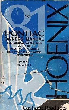 1981 Pontiac Phoenix Owner's Manual - AM0027
