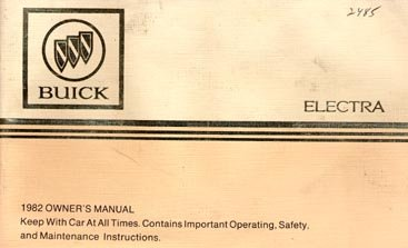 1982 Buick Electra Owner's Manual - AM0026
