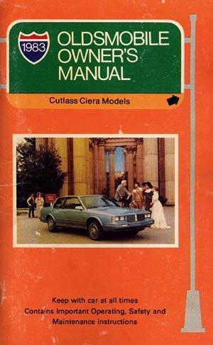 1983 Oldsmobile Cutlass Ciera-Cutlass Cruiser Owner's Manual - AM0023