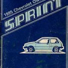1985 Chevrolet Sprint Owner's Manual - AM0018