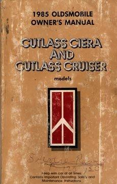 1985 Oldsmobile Cutlass Ciera-Cutlass Cruiser Owner's Manual - AM0017
