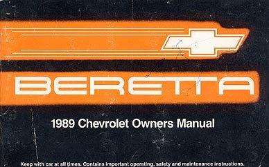 1989 Chevrolet Beretta Owner's Manual - AM0015