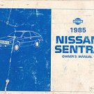 1985 Nissan Sentra Owner's Manual - AM0004