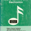 1984 Oldsmobile Sound Systems and Electronics Owner's Manual Supplement -AM0060