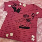 The dark pink striated tee