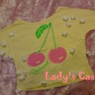 The pink cherry yellow tee