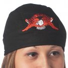 Black Cotton Skull Cap with Flying Eagle GFSKLTR-l