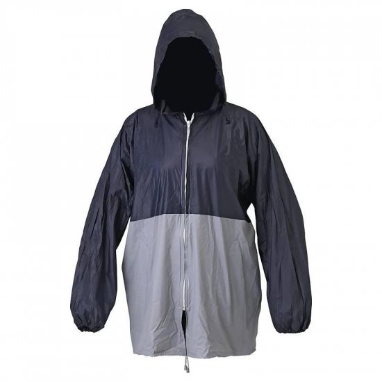 All Weather Blue/Grey Rain Jacket with Pouch XL GFRAIN-l