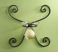 Gabrielle Design Wrought Iron Wall Sconce LB47144-m