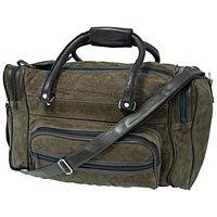 "Brown Suede Multiple Pocket 17"" Tote Bag SMSTOTEBRm"