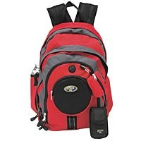 New Red Multi Zip Pockets Backpack LUOB405RD-m