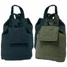 4pc Drawstring Closure Quilted Backpack SMCFBPSET-m