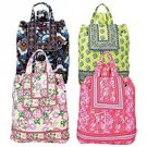 Quilted Drawstring Closure 4pc Backpack Set SMBP4SETF-m