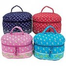 "4pc Quilted Print Pattern 11"" Vanity Case Set SMCS2SET-m"