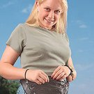 Black Leather Waist Bag LUWAIST-m