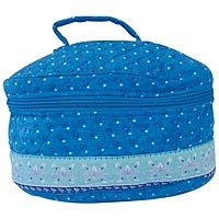 Quilted Blue Cosmetic Bag SMCOS2B-m
