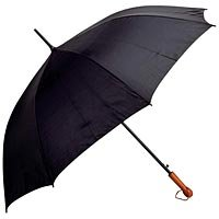 "All Weather 60"" Elite Series Black Polyester Auto Open Umbrella GFUMP60"