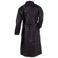Men's Black Leather Trench Coat MED GFTR