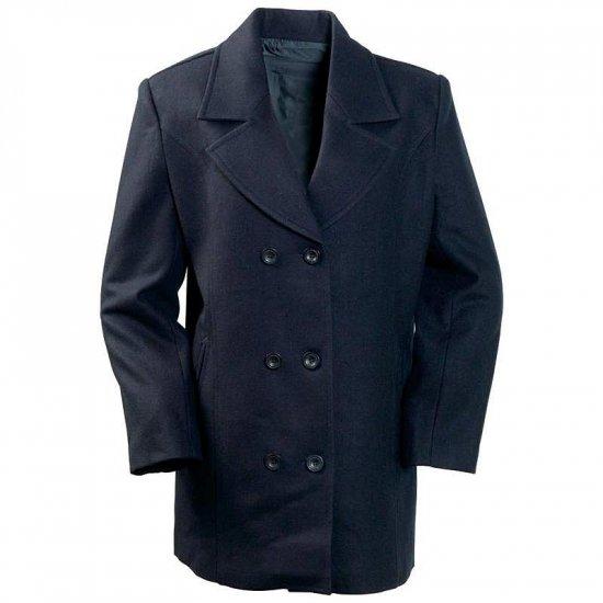 Ladies Wool Blend Navy Blue Pea Coat LG GFLPEA