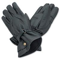 Black Leather Motorcycle Gloves XL - GFCHMCXL