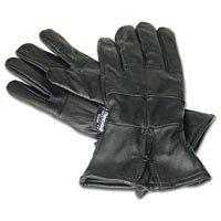 Mens Solid Leather Gloves with Large Cuffs Med - GFGLCUFM