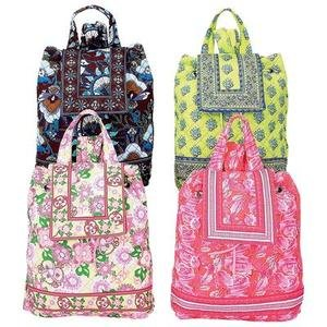 Colorful 4pc Quilted Backpack Set SMBP4SETF