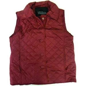 Mountain Women's Dark Red Quilted Polyester Vest  GFQVDR