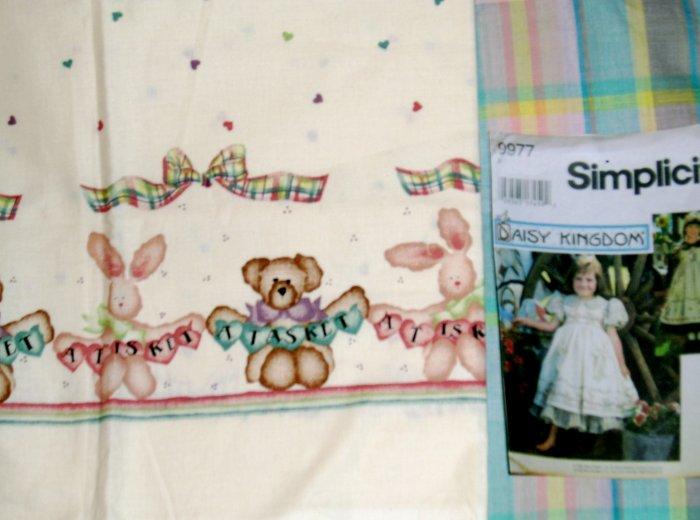 Daisy Kingdom A Tisket, Tasket Doll Dress Kit