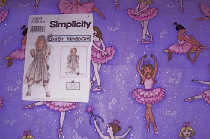 Daisy Kingdom Ballerina Allover Doll Dress Kit