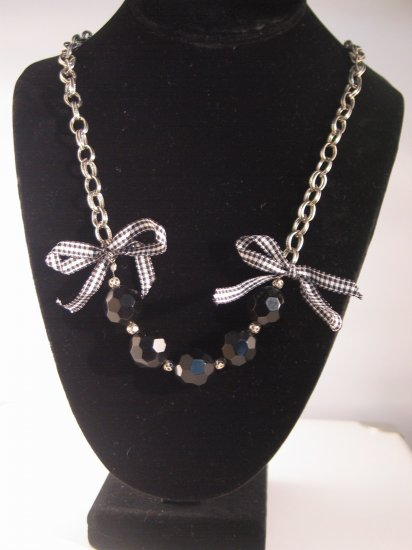 Beads And Bows Necklace