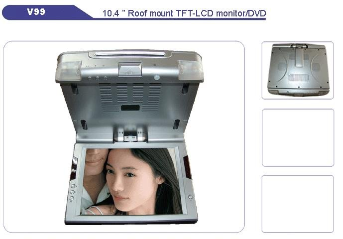"""10.4""""SHARP 4:3 Roof Mount TFT-LCD/DVD/TV, Car Roof Mounted Monitors, Car Electronics"""
