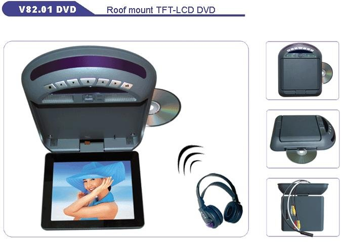 """8""""SHARP 4:3 Roof Mount TFT-LCD/DVD/TV, Car Roof Mounted Monitors, Car Electronics"""