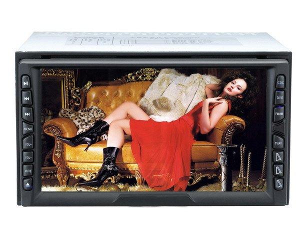 Two din size auto flip down car DVDTFT-LCD car DVD/TV player, Car DVD players, Car Electronics